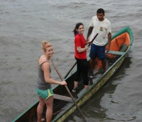 International Service Learning Program Boat Paddling Local Culture Brazil Island