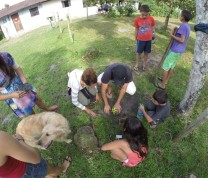International Service Learning Team Work Planting