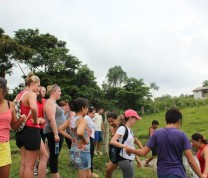 International Service Learning Walking Trough the Island
